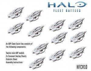 jeden z zestawów halo fleet battles